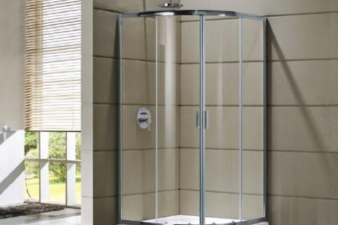 Cabină de duș Cleo semirotundă 80x80