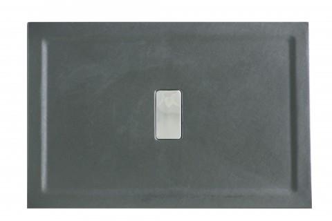 Cadita de dus Relax 90x70 - finisaj texturat negru mat