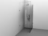 Cabină de duș Alux Premium de tip L 100x70 - sticlă securizată