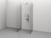 Cabină de duș Alux Premium de tip U 120x80 - sticlă securizată