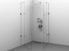 Cabină de duș Alux patrată 90x90 cu 2 uși - sticlă securizată