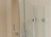 Cabină de duș Alux patrată 100x100 cu 2 uși - sticlă securizată