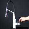 Baterie de bucatarie alba CHEF TAPS - sistem de economisire a apei EcoNature